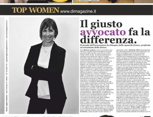 DONNA IMPRESA MAGAZINE LUGLIO/AGOSTO 2020 – Il giusto avvocato fa la differenza – intervista a Monica Lambrou