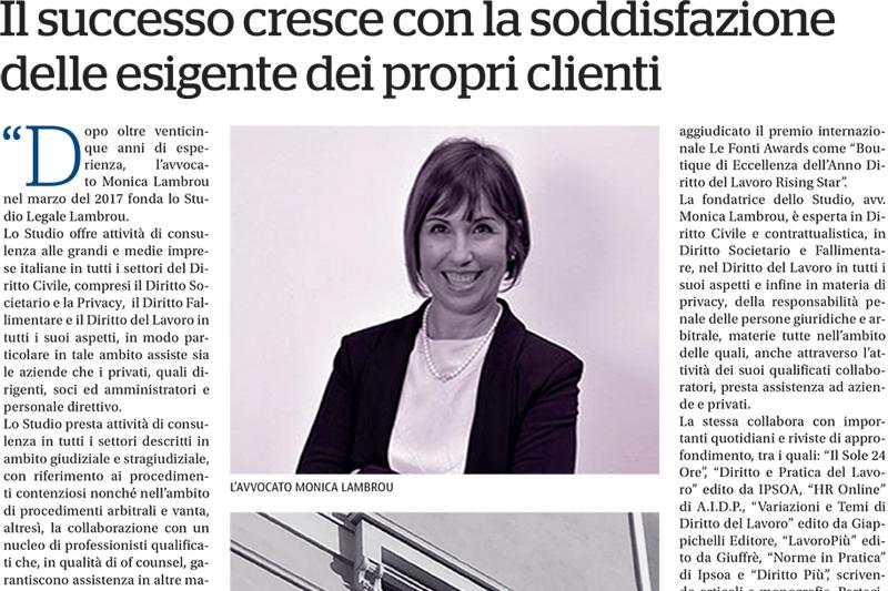 Focus Studi Legali La Repubblica – Il successo cresce con la soddisfazione delle esigenze dei propri clienti
